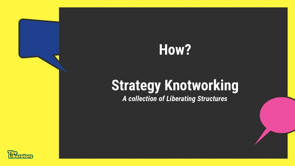 How? Strategy Knotworking A collection of Liber...