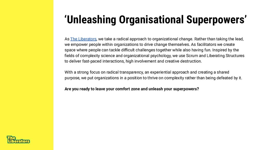 'Unleashing Organisational Superpowers' As The ...