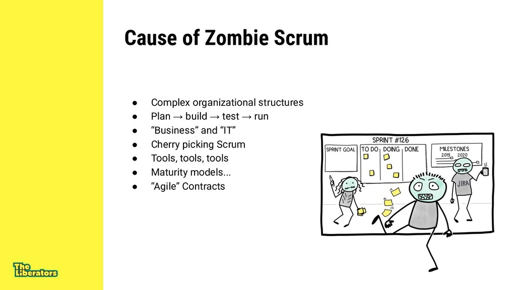Cause of Zombie Scrum ● Complex organizational ...