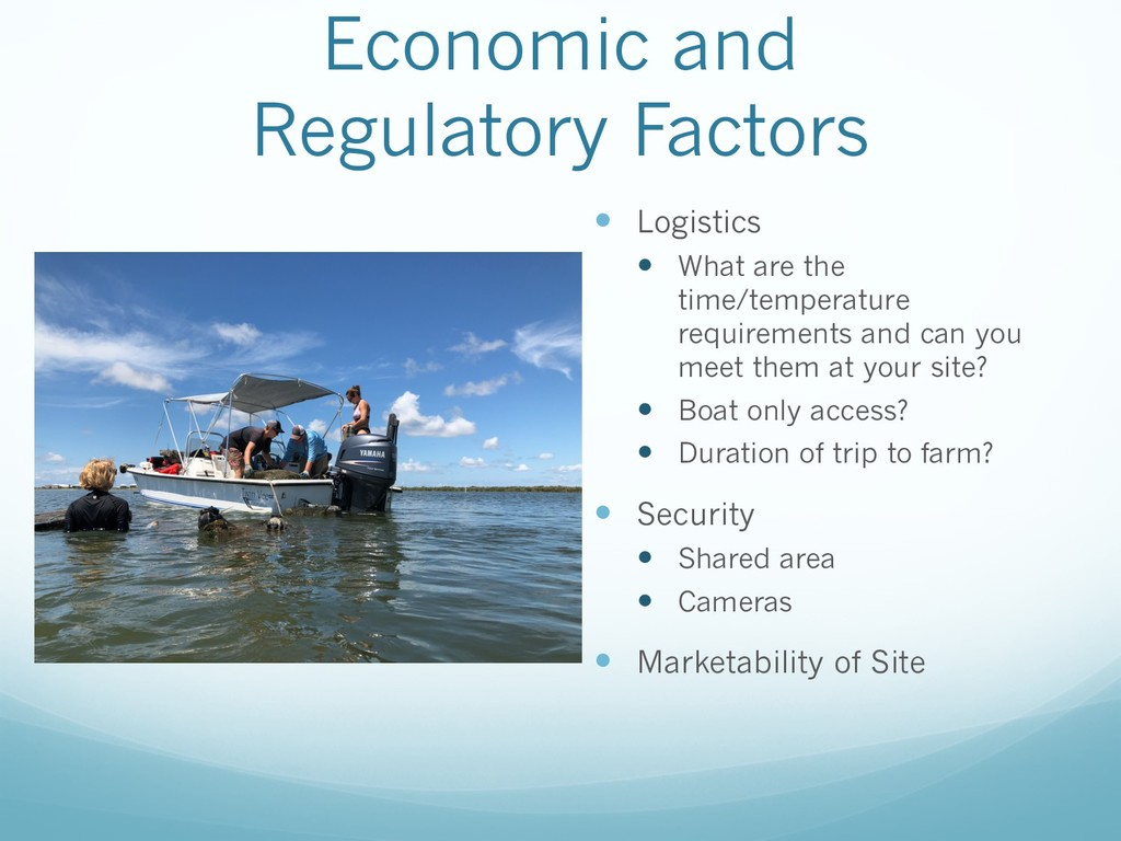 Economic and Regulatory Factors — Logistics — W...