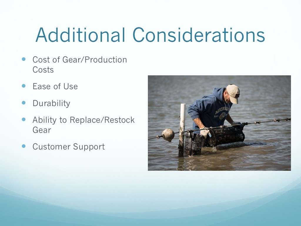 Additional Considerations — Cost of Gear/Produc...