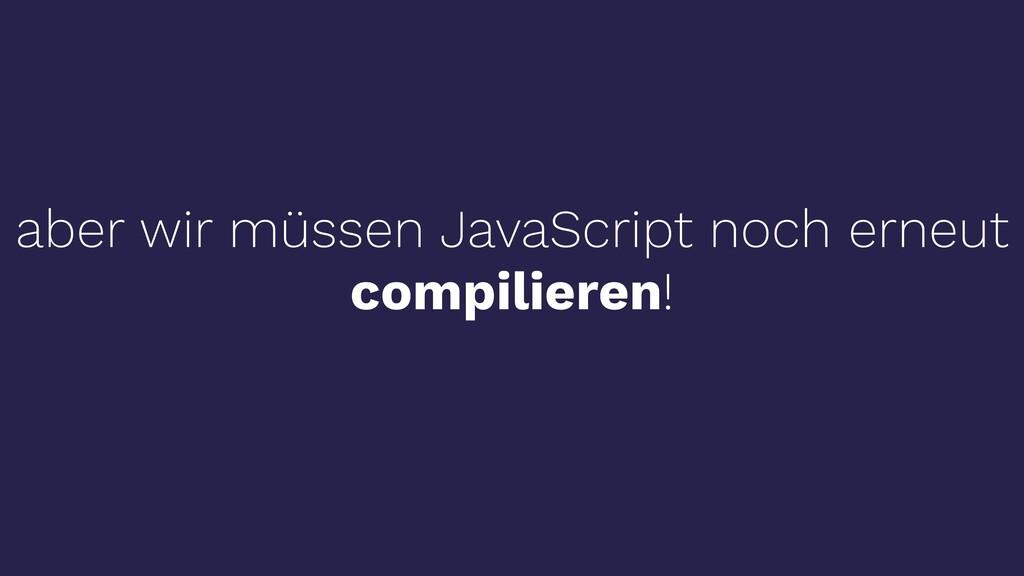 aber wir müssen JavaScript noch erneut compilie...