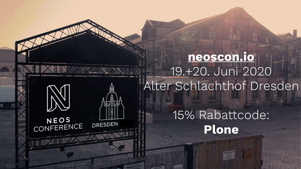 neoscon.io 19.+20. Juni 2020 Alter Schlachthof ...