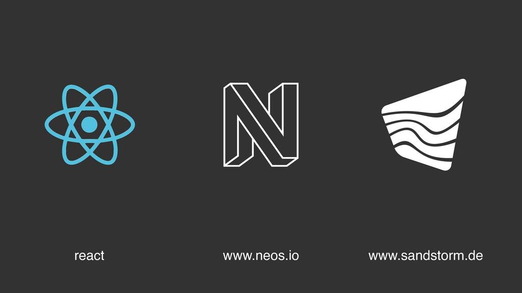 www.neos.io react www.sandstorm.de