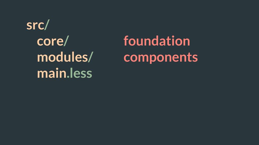 src/ core/ foundation modules/ components main....