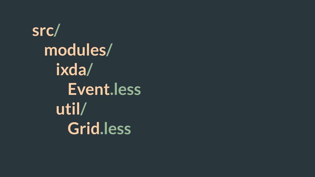 src/ modules/ ixda/ Event.less util/ Grid.less