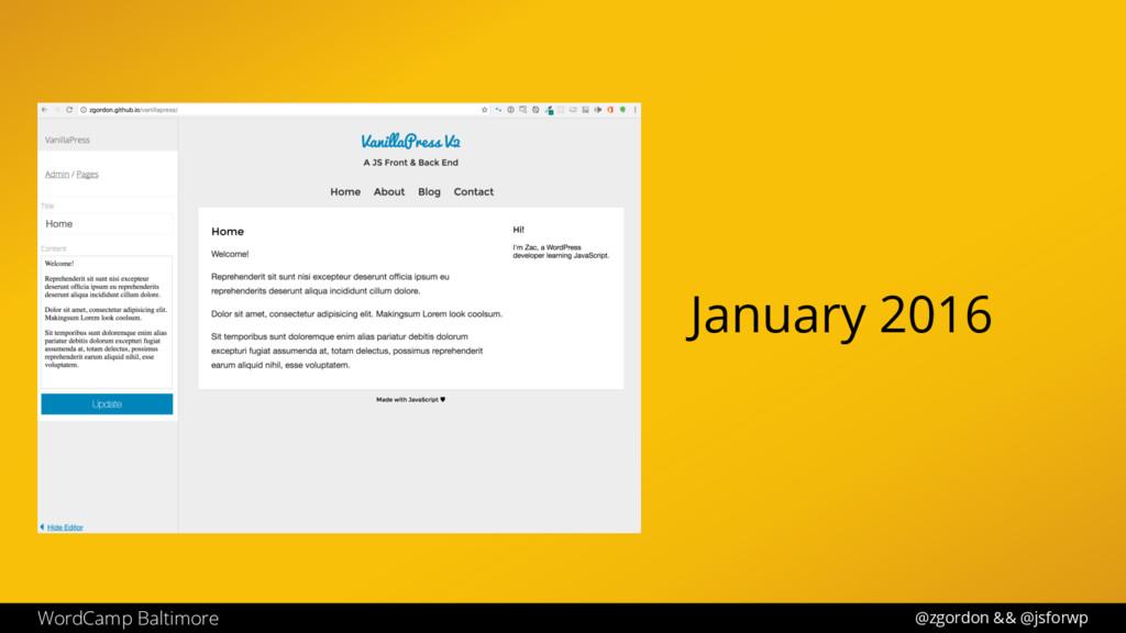 @zgordon && @jsforwp WordCamp Baltimore January...