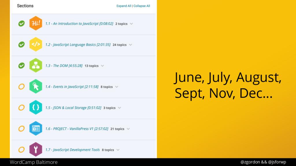@zgordon && @jsforwp WordCamp Baltimore June, J...