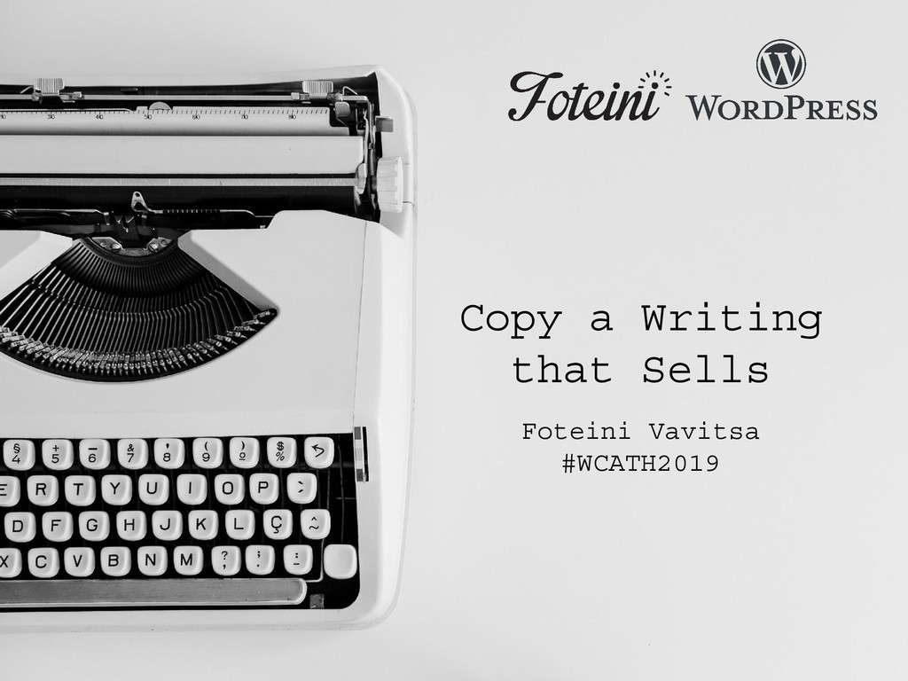 Copy a Writing that Sells Foteini Vavitsa #WCAT...