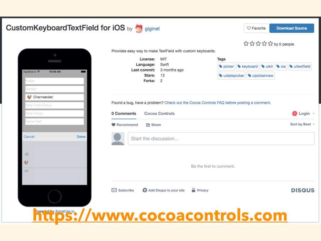 https://www.cocoacontrols.com