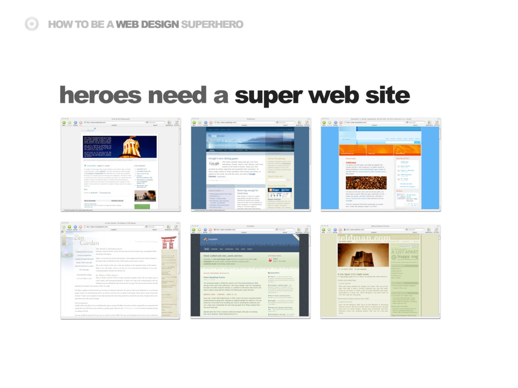 HOW TO BE A WEB DESIGN SUPERHERO heroes need a ...