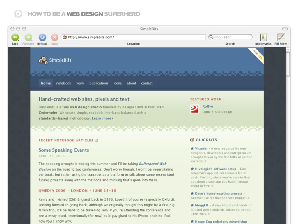 HOW TO BE A WEB DESIGN SUPERHERO
