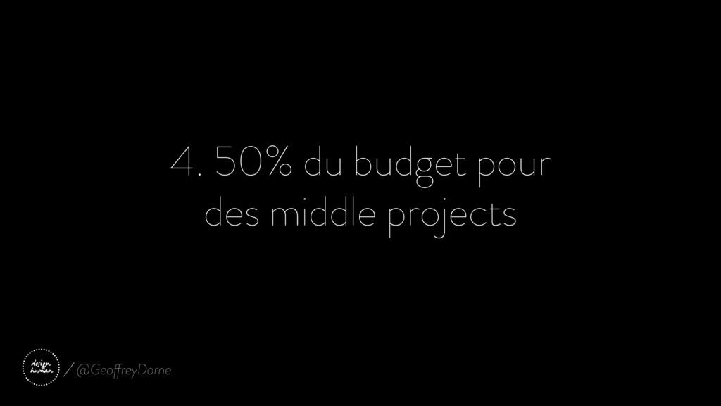 4. 50% du budget pour des middle projects @Geof...