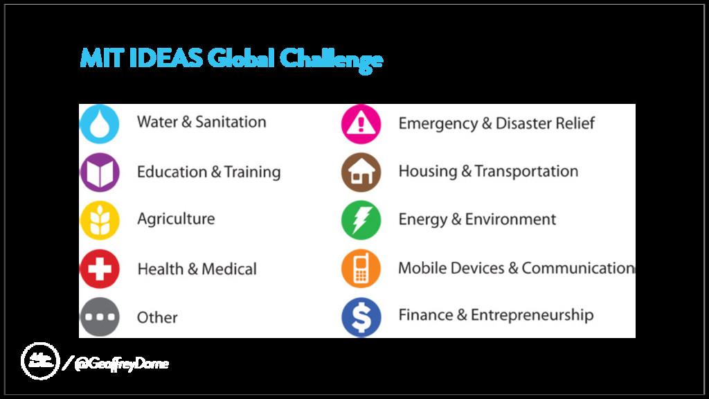 MIT IDEAS Global Challenge @GeoffreyDorne