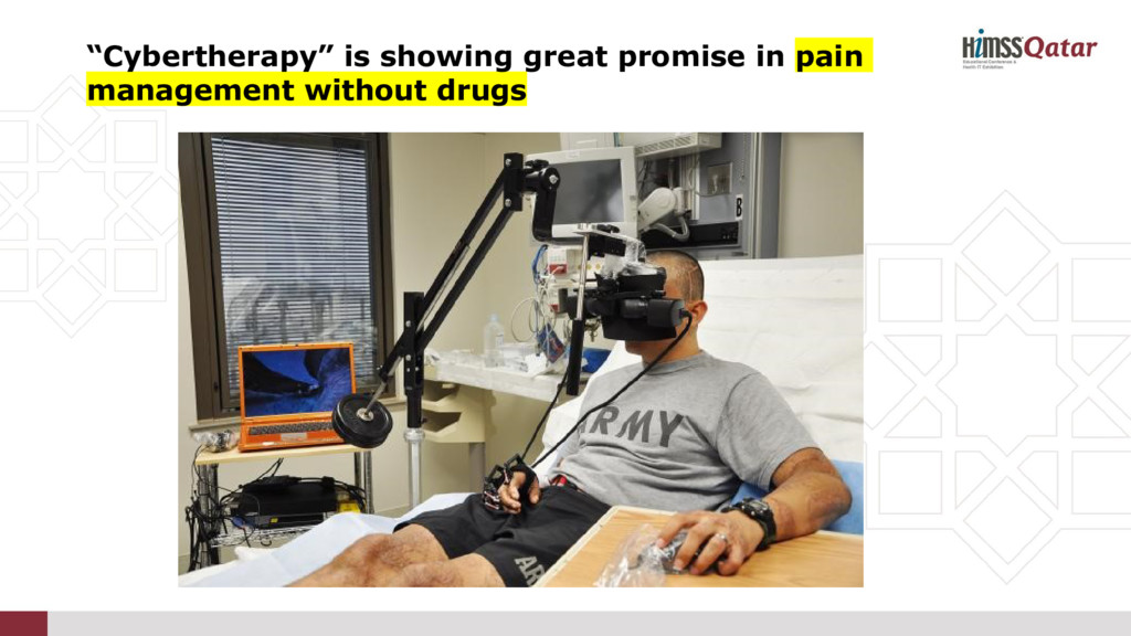 """""""Cybertherapy"""" is showing great promise in pain..."""