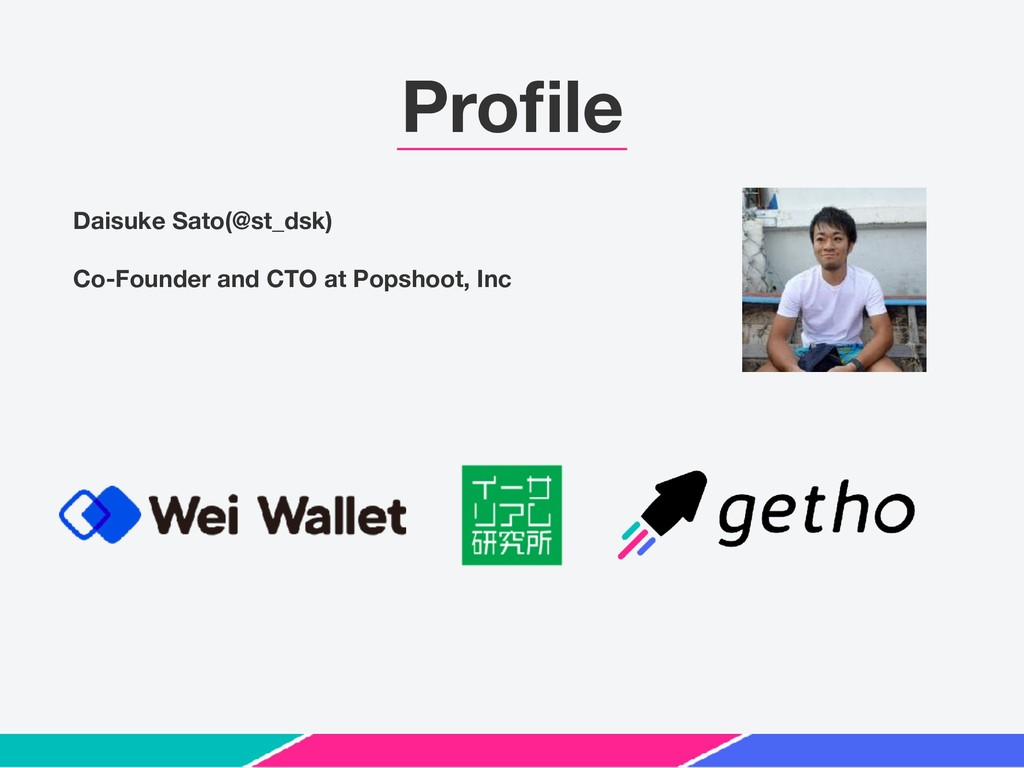 Profile Daisuke Sato(@st_dsk) Co-Founder and CTO...