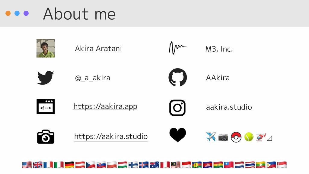 About me @_a_akira AAkira M3, Inc. Akira Aratan...