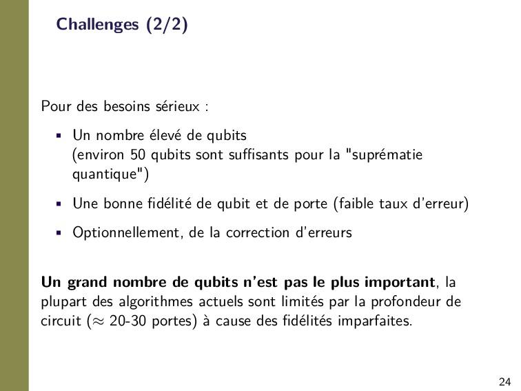 24 Challenges (2/2) Pour des besoins sérieux : ...