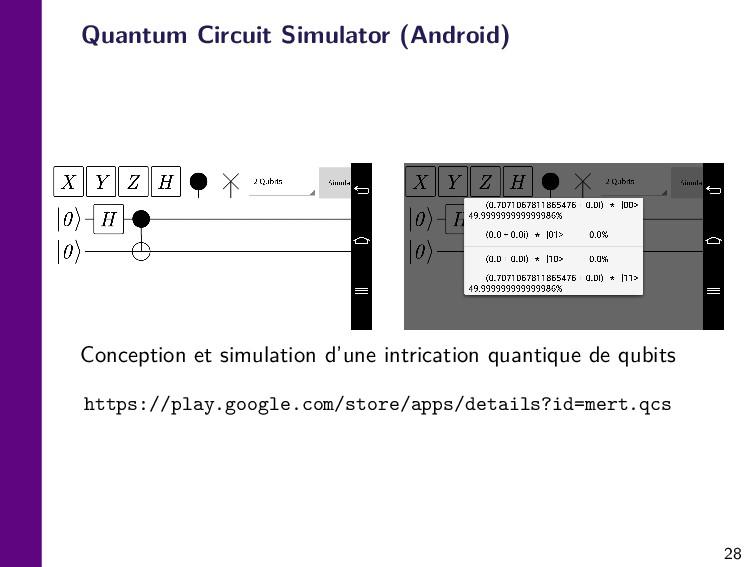 28 Quantum Circuit Simulator (Android) Concepti...