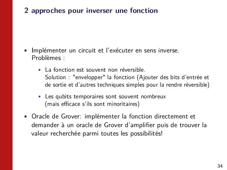 34 2 approches pour inverser une fonction • Imp...