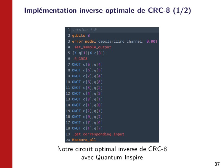 37 Implémentation inverse optimale de CRC-8 (1/...