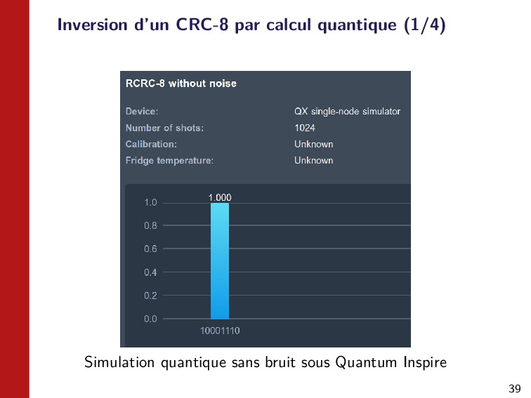 39 Inversion d'un CRC-8 par calcul quantique (1...