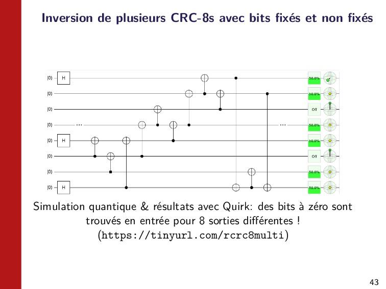 43 Inversion de plusieurs CRC-8s avec bits fixés...
