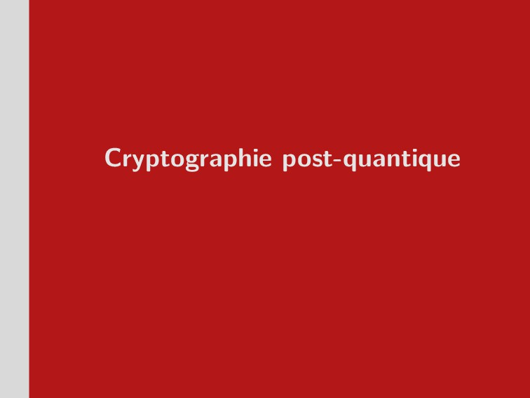 Cryptographie post-quantique