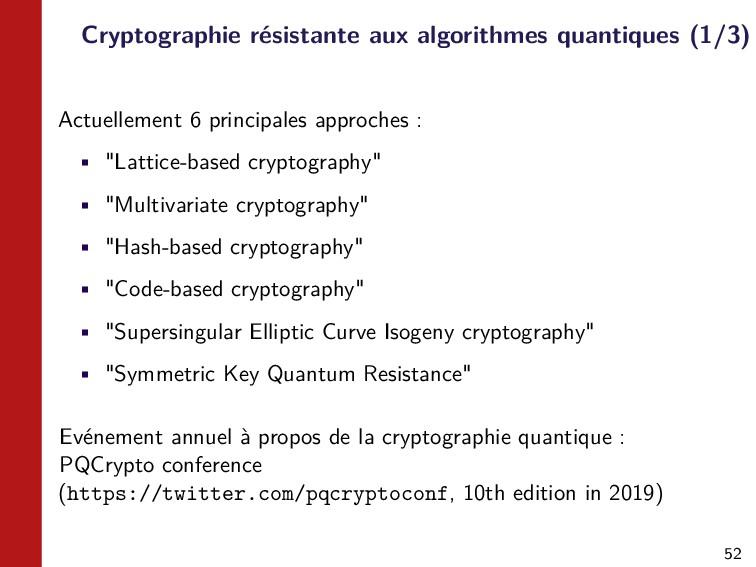 52 Cryptographie résistante aux algorithmes qua...