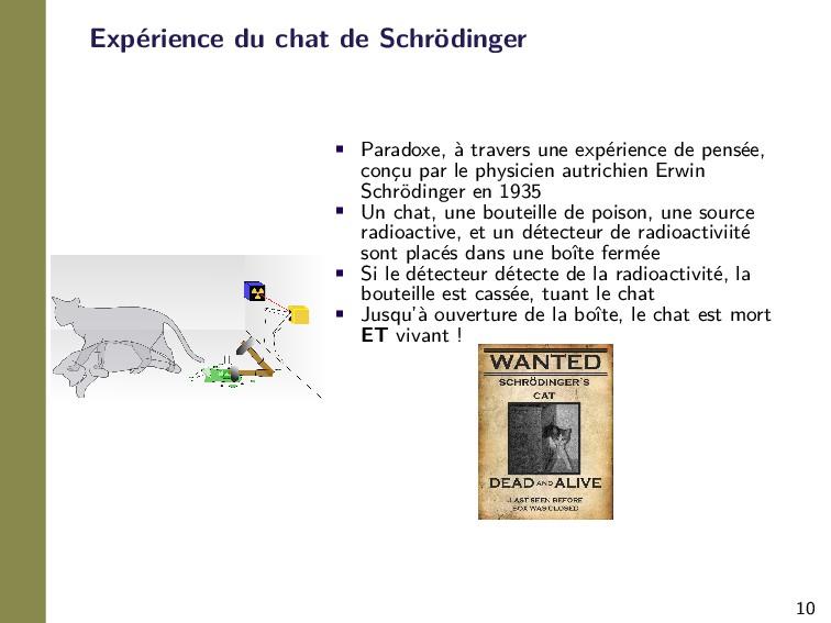 10 Expérience du chat de Schrödinger • Paradoxe...
