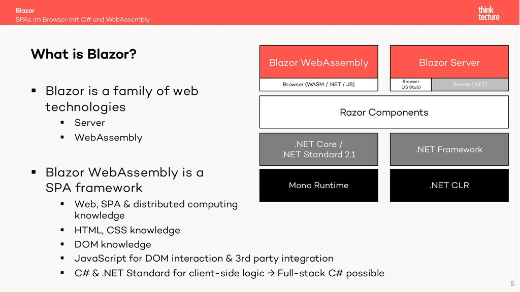 5 § Blazor is a family of web technologies § Se...