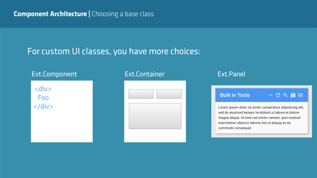 Component Architecture   Choosing a base class ...