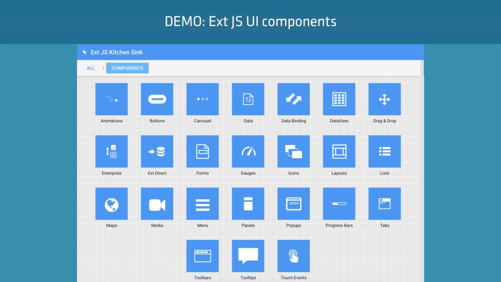 Intro   Demo DEMO: Ext JS UI components