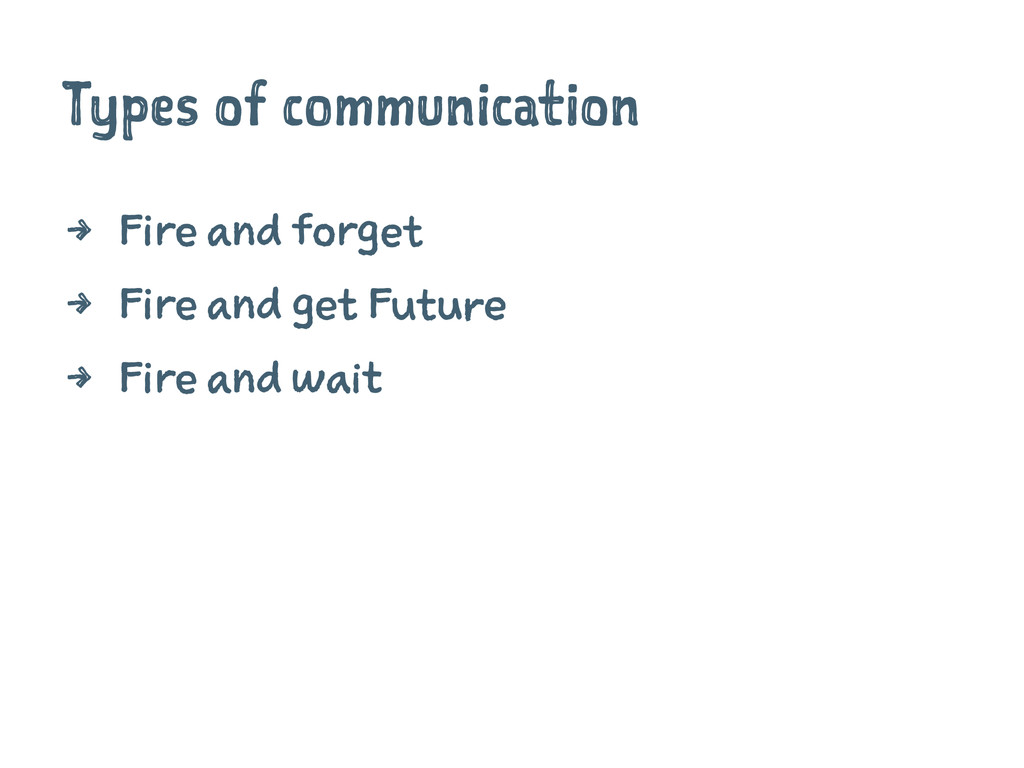 Types of communication 4 Fire and forget 4 Fire...