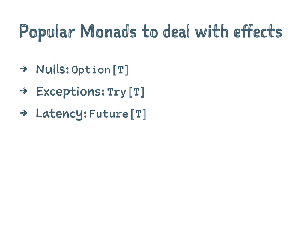 Popular Monads to deal with effects 4 Nulls: Op...