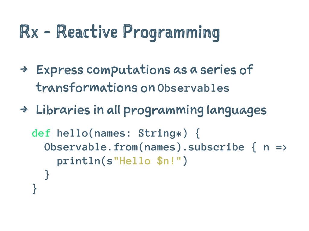 Rx - Reactive Programming 4 Express computation...