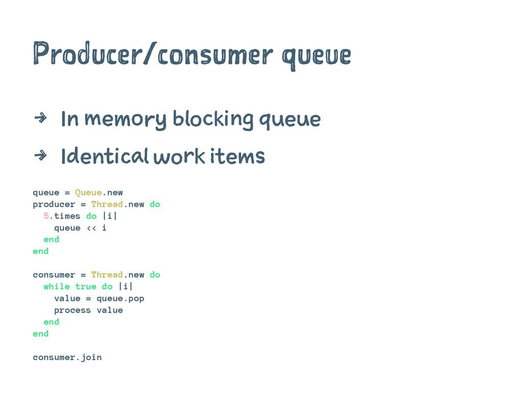Producer/consumer queue 4 In memory blocking qu...