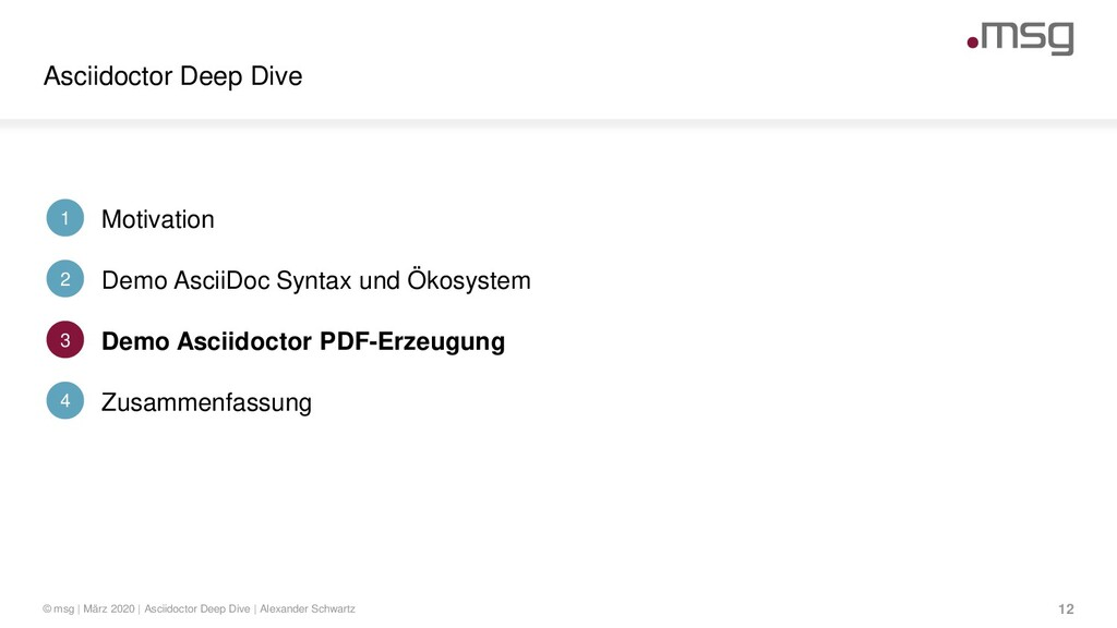 Asciidoctor Deep Dive © msg | März 2020 | Ascii...