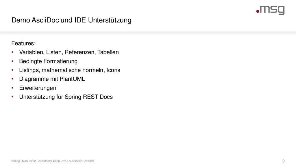 Demo AsciiDoc und IDE Unterstützung © msg | Mär...