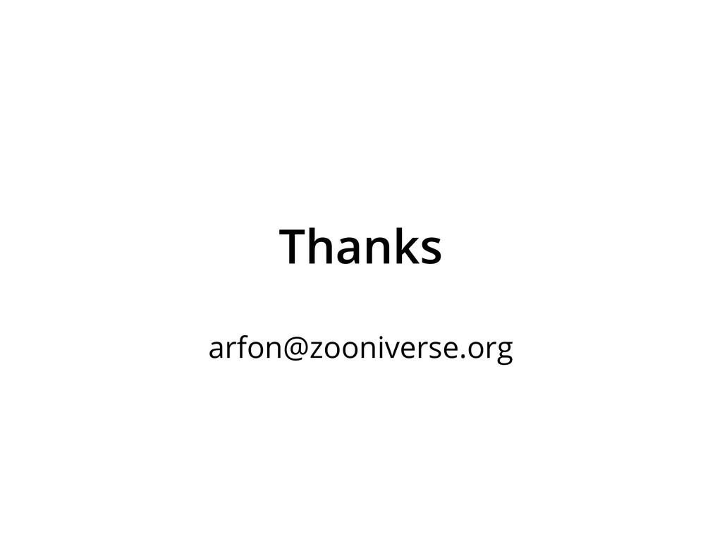 Thanks arfon@zooniverse.org
