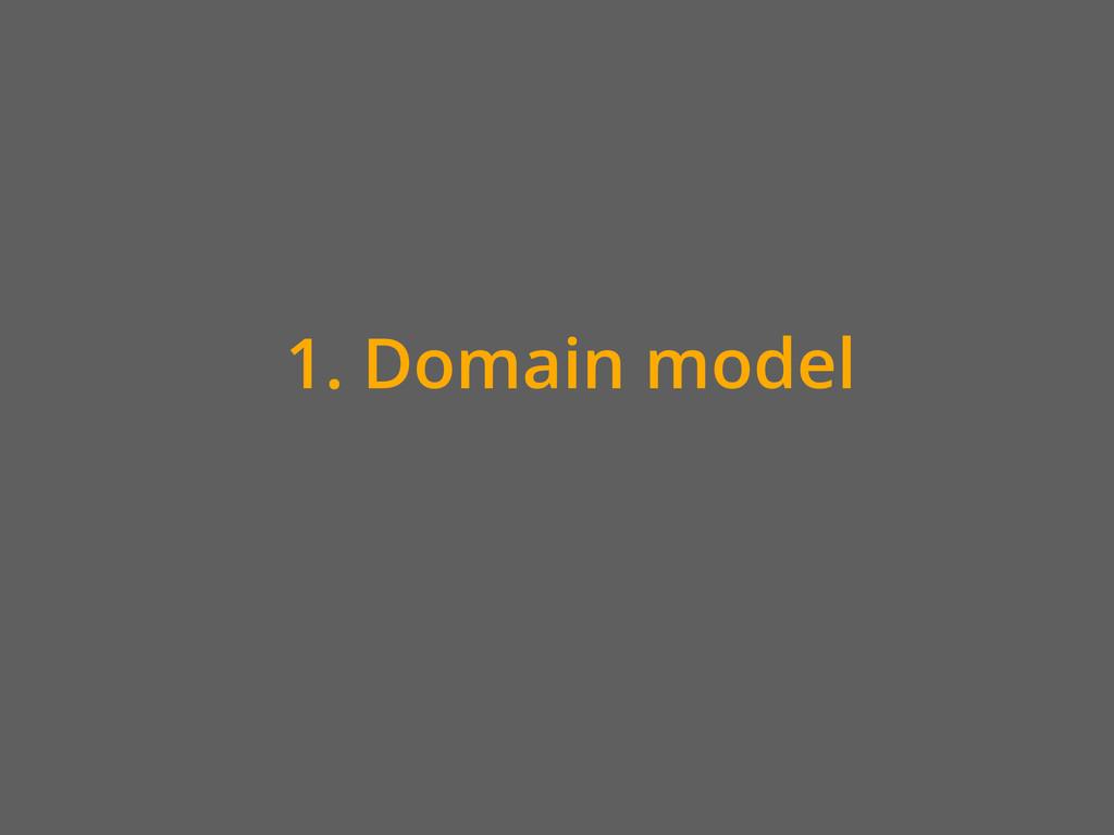 1. Domain model