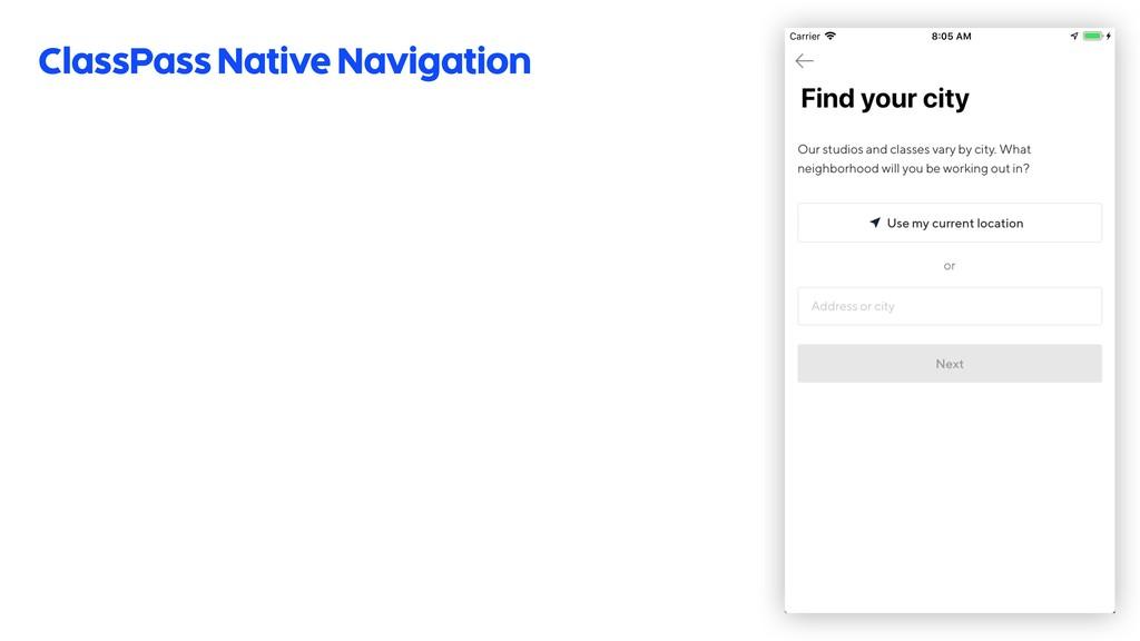 ClassPass Native Navigation 51