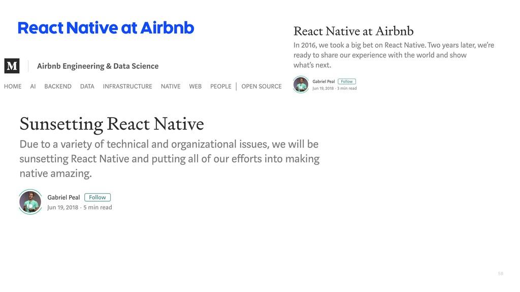 58 React Native at Airbnb