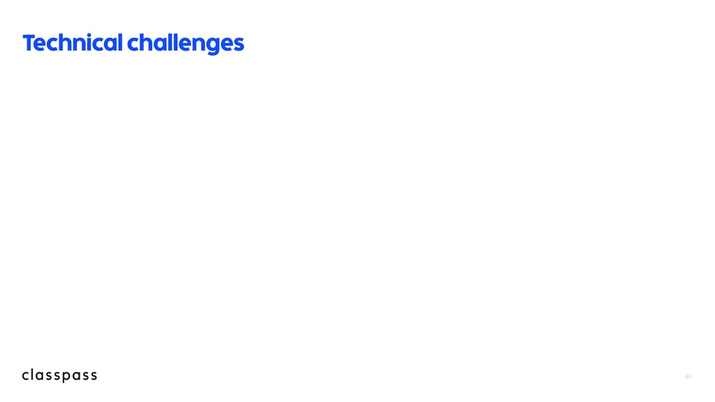 61 Technical challenges