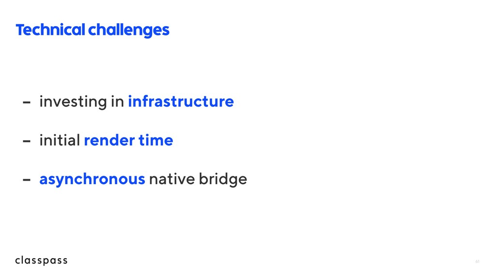 61 Technical challenges - investing in infrastr...