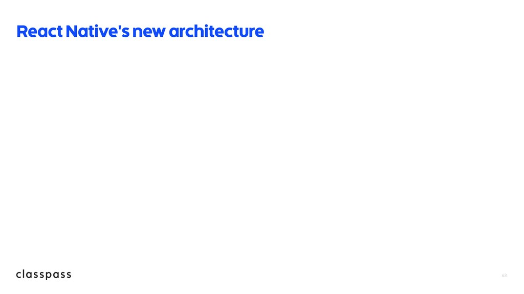 63 React Native's new architecture