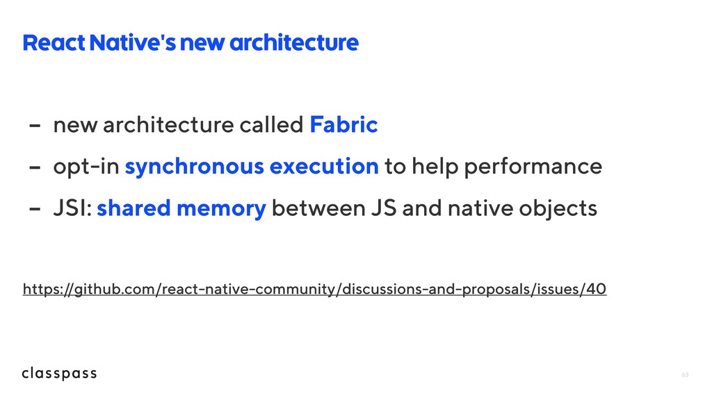 63 React Native's new architecture - new archit...