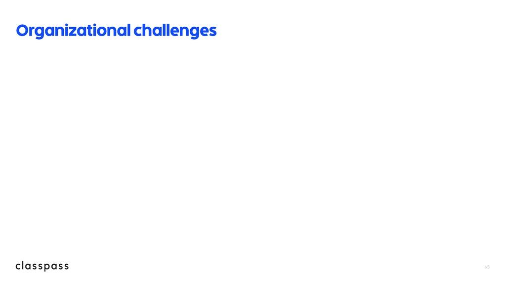 65 Organizational challenges