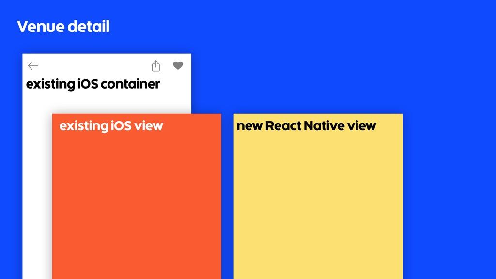 Venue detail existing iOS container existing iO...