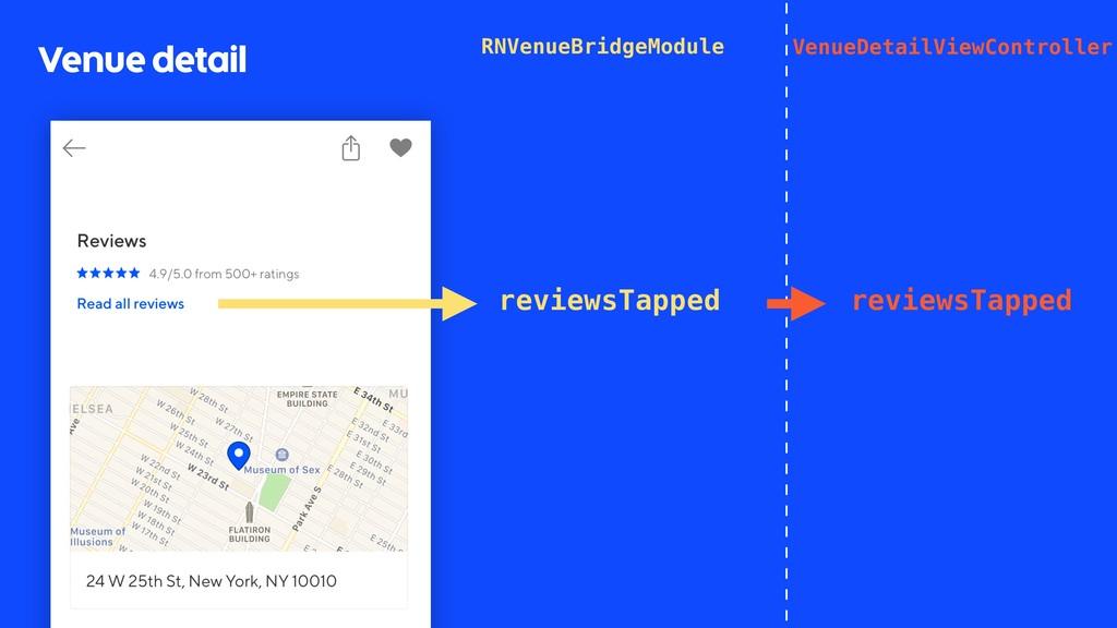 Venue detail VenueDetailViewController reviewsT...